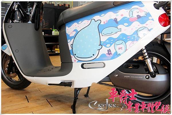 GOGORO2 鯨鯊先生 車身彩貼%26;透明犀牛皮保護膜