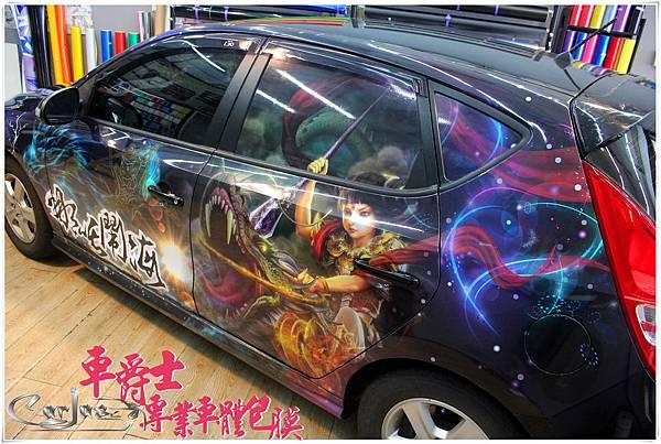 HYUNDAI i30 客製化 九龍太子 三太子車身彩貼