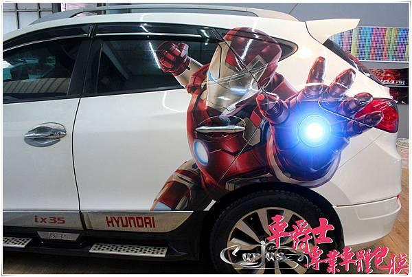 ix35 鋼鐵人車身彩貼
