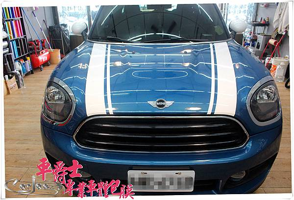 MINI COUNTRYMAN 運動線條 車頂米字旗彩貼