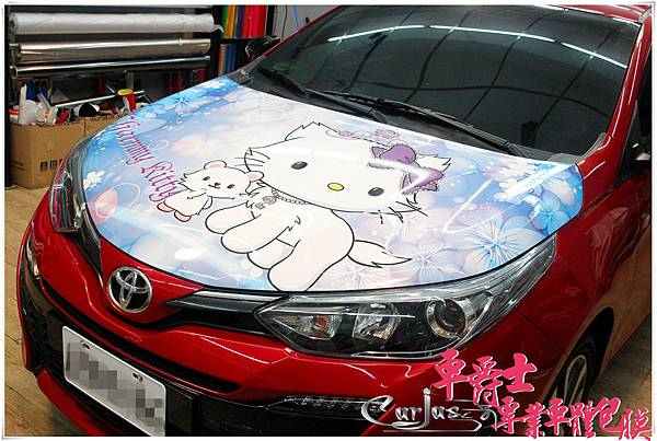 TOYOTA YARIS CHARMMY KITTY 引擎蓋彩貼