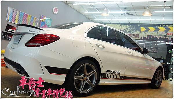 BENZ C300 客製化 AMG 車身彩貼