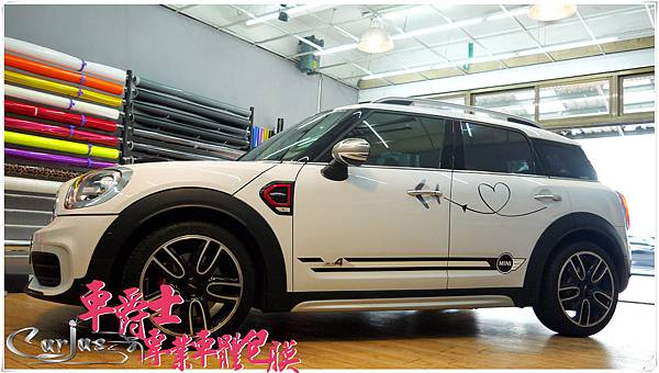 MINI COUNTRYMAN 客製化 車身彩貼 車頂彩貼 運動線條