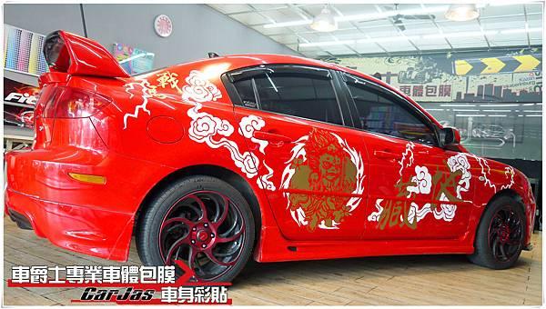 一代MAZDA3 客製化 地藏小王 車身彩貼