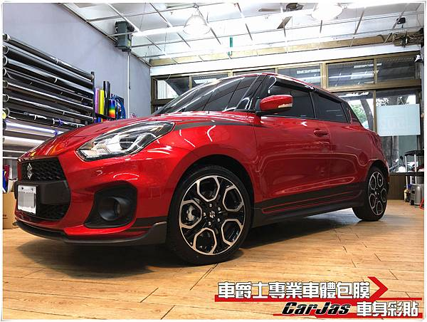 SUZUKI SWIFT 客製化 運動競技 運動線條 車身彩貼
