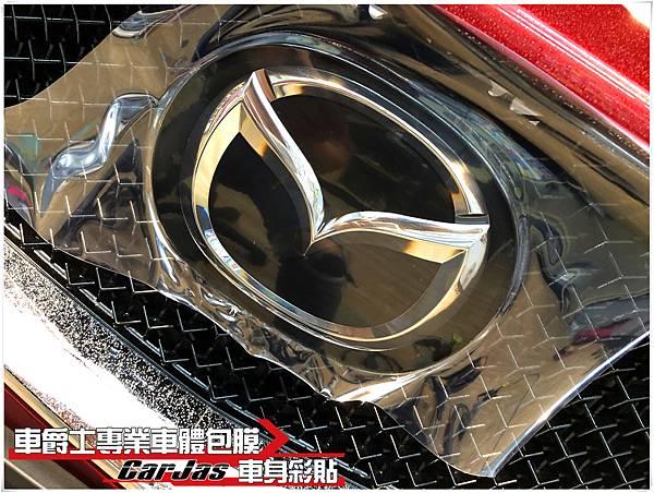 IMG_1324MAZDA CX-5 車頭迎風面 引擎蓋 保桿 葉子板 大燈 後視鏡 車標 大燈 BC柱 透明犀牛皮保護膜