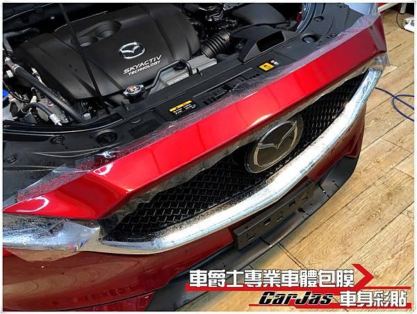 IMG_1320MAZDA CX-5 車頭迎風面 引擎蓋 保桿 葉子板 大燈 後視鏡 車標 大燈 BC柱 透明犀牛皮保護膜