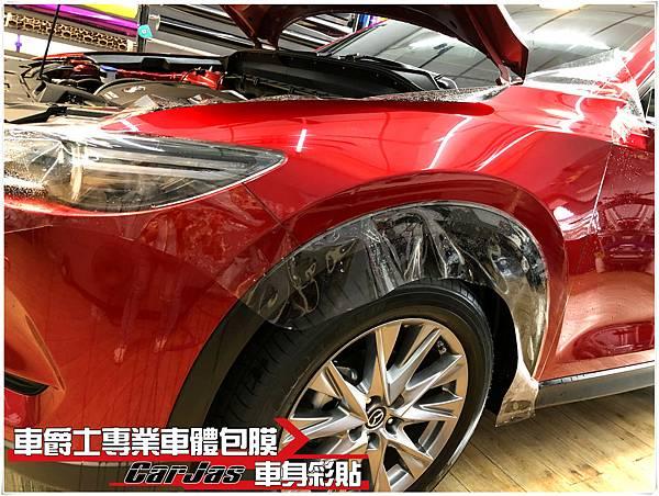 IMG_1325MAZDA CX-5 車頭迎風面 引擎蓋 保桿 葉子板 大燈 後視鏡 車標 大燈 BC柱 透明犀牛皮保護膜