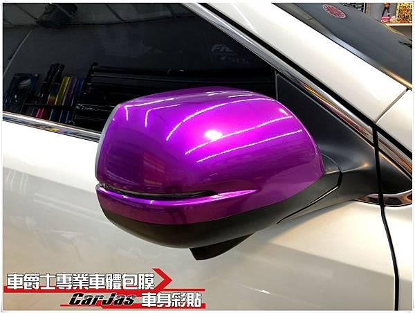 HONDA CR-V 水箱護罩鍍鉻飾條 變色珍珠白 極光金屬紫 3D黑卡夢 改色包膜 後視鏡 極光金屬紫改色包膜
