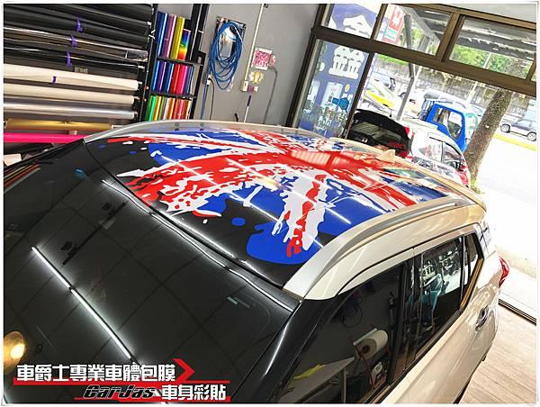 NISSAN KICKS 客製化英國旗車頂彩貼