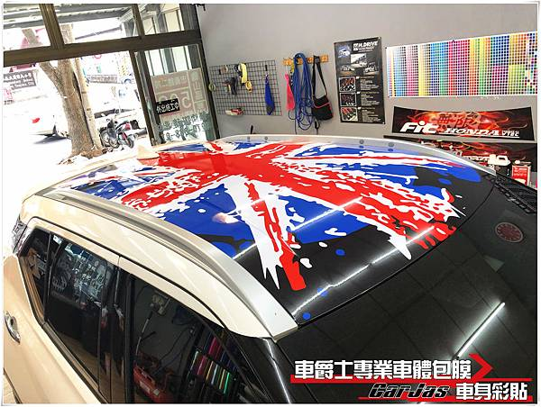 NISSAN KICKS 客製化MITSUBISHI Eclipse Cross 客製化車身彩貼國旗車頂彩貼