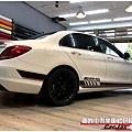BENZ W205 客製化 AMG車身線條車身彩貼