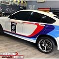 BMW X4 客製化 車身彩貼