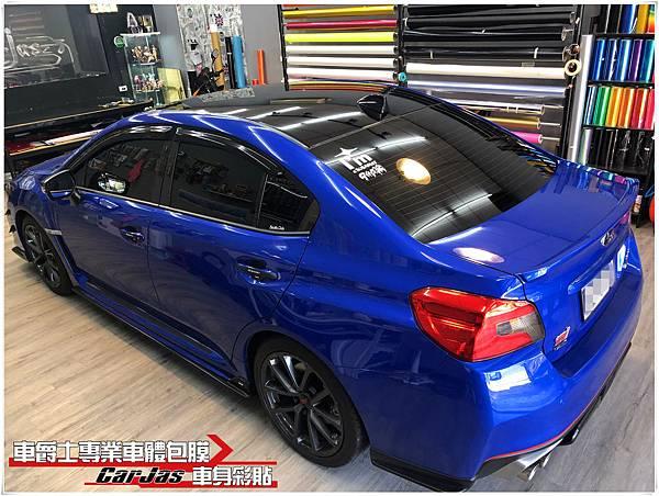 SUBARU WRX 類全景天窗高亮黑車頂貼膜