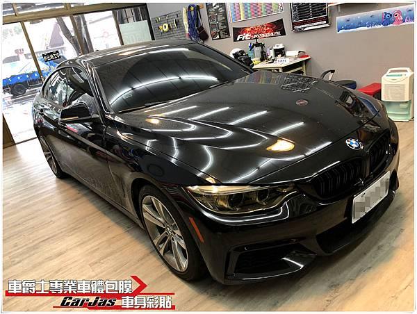 BMW 420i 大燈 尾燈 茶色燻黑改色包膜