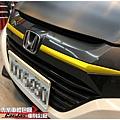 HONDA HR-V 引擎蓋 車頂 3D黑卡夢改色包膜 鍍鉻飾條 極光金屬金改色貼膜