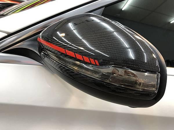 BENZ C300 大燈 尾燈 茶色燻黑改色包膜