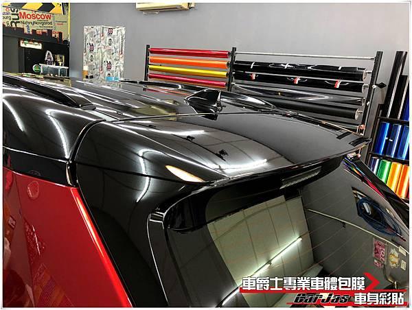 TOYOTA RAV4 前後下巴消光黑 懸浮式車頂量黑改色包膜