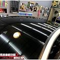 BENZ A180 類全景天窗高亮黑車頂貼膜