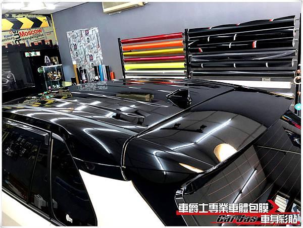 TOYOTA RAV4 懸浮式車頂 A柱 車頂 後視鏡 尾翼 高亮黑改色包膜