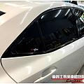 LEXUS IS250 水箱護罩 窗框鍍鉻飾條 高亮黑改色包膜
