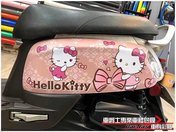 YAMAHA CUXI 客製化KITTY車身彩貼