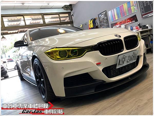 BMW M3 大燈金黃改色包膜