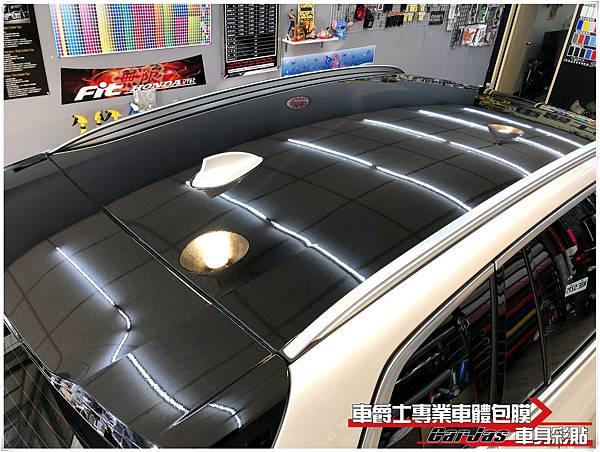 BMW X4 類全景天窗高亮黑車頂貼膜 後視鏡高亮黑改色包膜