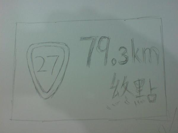 台27終點標示牌