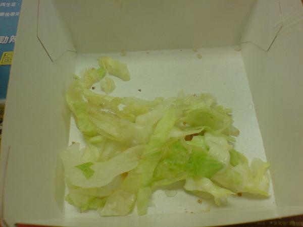 掉下來的生菜
