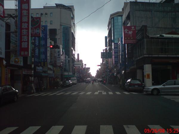 灰暗的市區