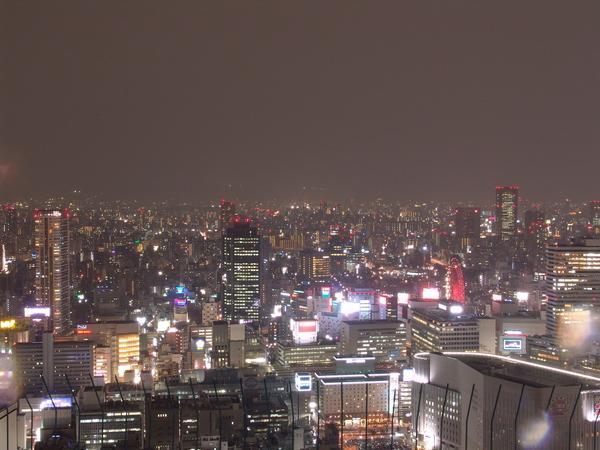 梅田站的空中庭園展望台