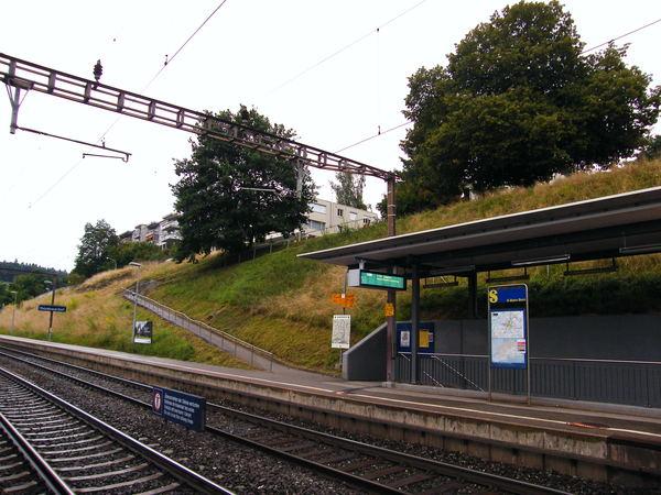 車站旁的小路上去就是公司