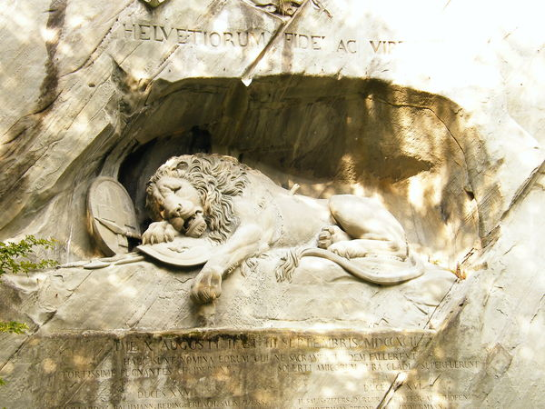 Luzern最有名的獅子記念碑