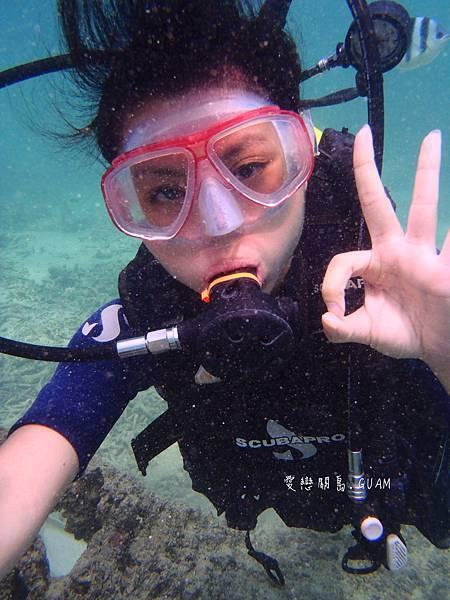 水底溝通都用手勢唷