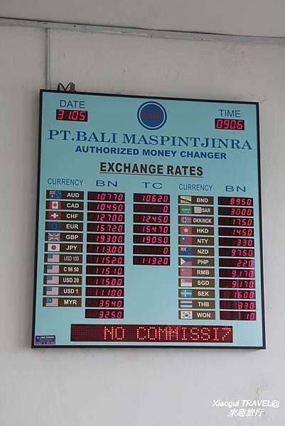 峇里島兌換美金