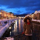 小樽散策-小樽運河 (約莫攝於四點十分)