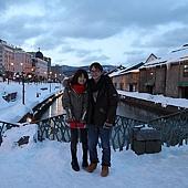 小樽散策-小樽運河 背景好像一幅畫唷
