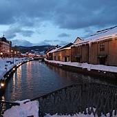 小樽散策-小樽運河 (約莫攝於三點五十八)