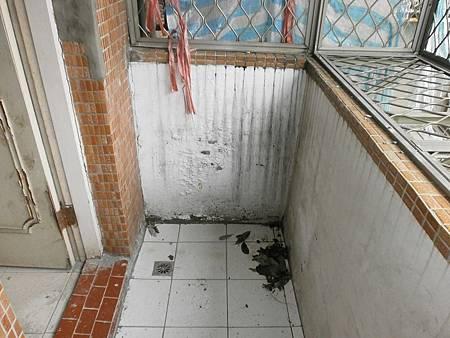 3.樓上陽台施工前