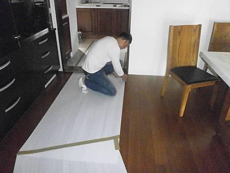 05施工中(地板保護措施)