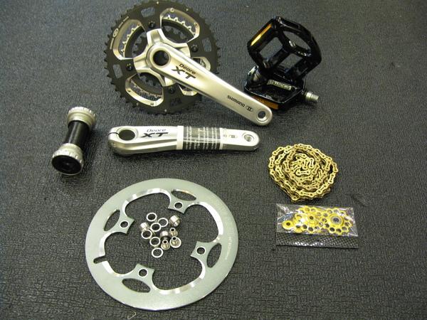 改裝大盤及鏈盤蓋及鏈條