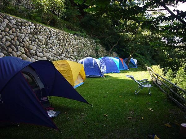 早上的營地