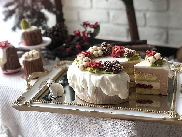 花甜居烘焙/聖誕禮物/韓式裱花蛋糕/台北古亭甜點/韓式裱花課