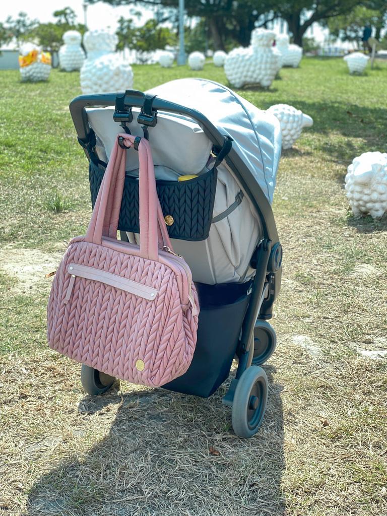 【HAPP媽媽包】親子系萬用百寶袋 必須入手夢幻媽媽包&推車置物袋 /Paige肩背包/乾燥玫瑰/時尚編織包/空氣包