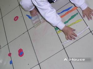 2008農曆新年,奶奶家排列紙黏土