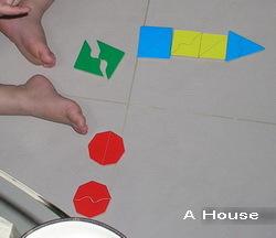 運用形狀板做成尖塔狀