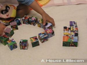 20塊立體六面拼圖之排列遊戲1