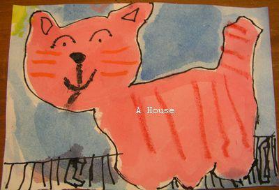貓咪在屋頂上(給奶奶的幼稚園畢業典禮邀請卡)(5y11m)