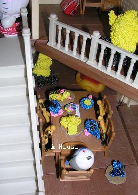 上有火爐、下有餐點(2011森林家族的聖誕家具)